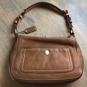 COACH tan pebbled leather bag, VGUC
